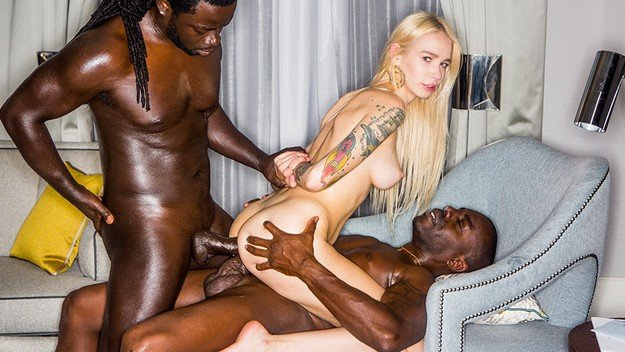 Sexy Blonde Fucked By Black Men With Very Big Dick 2019.