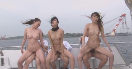 Nanami Aibu, Sae Yukino And Aira Masaki Sex On The Boat .