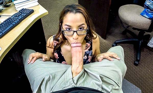 Beautiful College Student With Glasses Sex For Money HD.