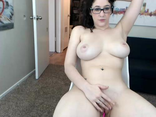 Homemade sex with a hot amateur with glasses and big natural tits.