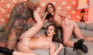 Joey And Sami The White Twins Fucking New Threesome Sex HD.