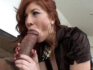 Super Hot Redhead Wife Fuck First Big Black Cock HD.